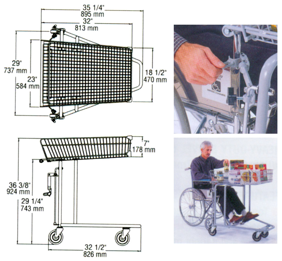 dimension shopping cart wheelchair