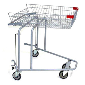 Shopping cart for wheelchair MS-1982